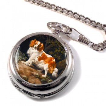 King Charles Spaniel by George Stubbs Pocket Watch