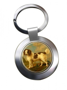 Norfolk Spaniel by George Stubbs Metal Key Ring
