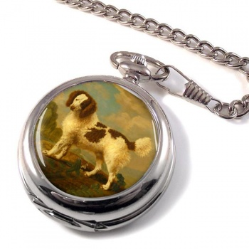 Norfolk Spaniel by George Stubbs Pocket Watch