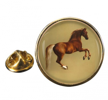 Horse Forcene by George Stubbs Round Pin Badge