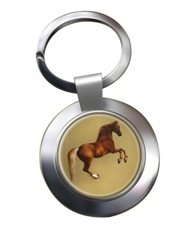 Horse Forcene by George Stubbs Metal Key Ring