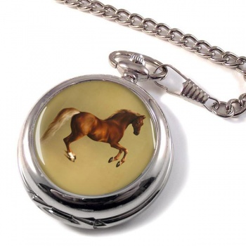 Horse Forcene by George Stubbs Pocket Watch