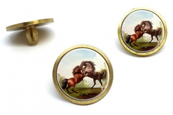 Fighting Stallions by George Stubbs  Golf Ball Marker Set