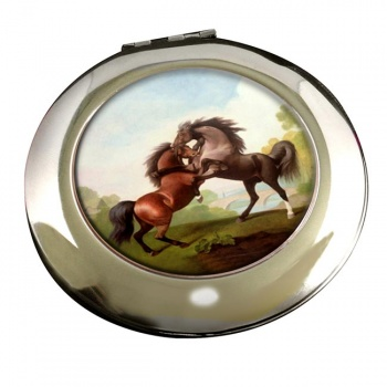 Fighting Stallions by George Stubbs Mirror