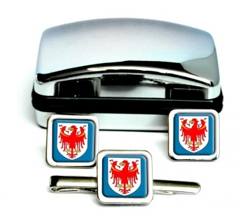 South Tyrol Alto Adige (Italy) Square Cufflink and Tie Clip Set