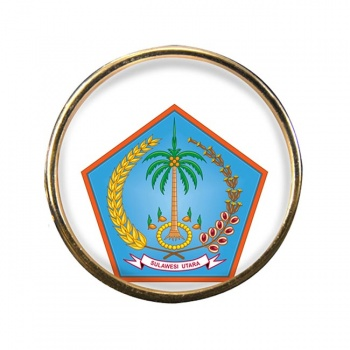 Sulawesi Utara (Indonesia) Round Pin Badge