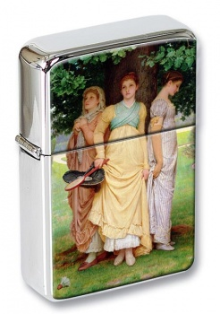 A Summer Shower by Charles Edward Perugini Flip Top Lighter