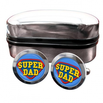 Super Dad Round Cufflinks