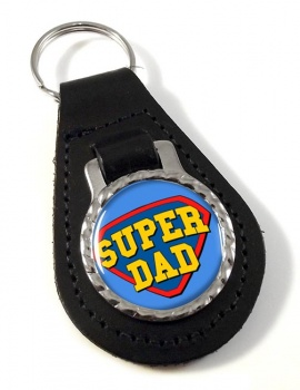 Super Dad Leather Key Fob