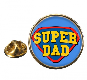 Super Dad Round Pin Badge
