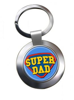 Super Dad Chrome Key Ring