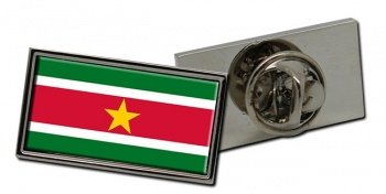 Suriname Flag Pin Badge