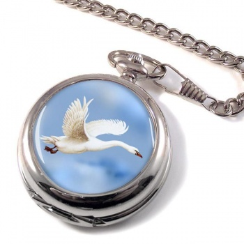 Swan in Flight Pocket Watch