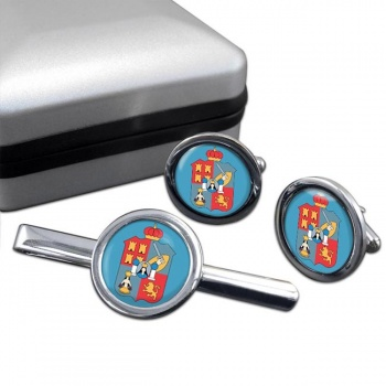 Tabasco (Mexico) Round Cufflink and Tie Clip Set
