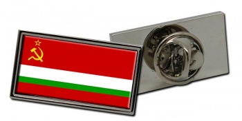 Tajik Soviet Flag Pin Badge