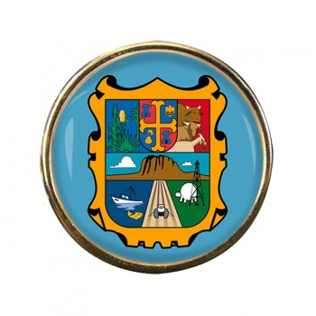 Tamaulipas (Mexico) Round Pin Badge