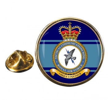 Tactical Communications Wing Round Pin Badge