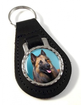 Belgian Shepherd Dog (Tervuren) Leather Key Fob