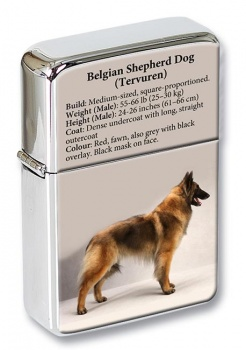 Belgian Shepherd Dog (Tervuren) Flip Top Lighter
