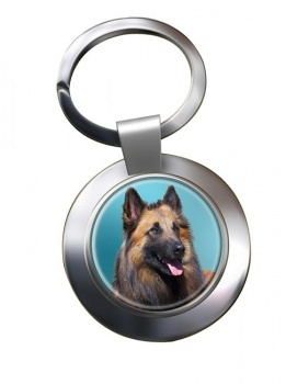Belgian Shepherd Dog (Tervuren) Metal Key Ring