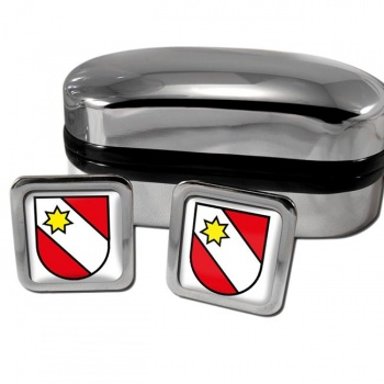 Thun Switzerland Square Cufflinks