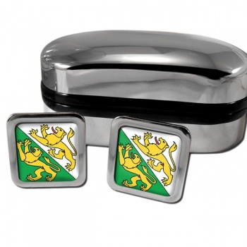 Thurgau Switzerland Square Cufflinks