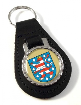 Thuringen (Germany) Leather Key Fob