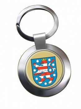 Thuringen (Germany) Metal Key Ring