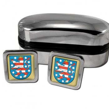 Thuringen Germany Square Cufflinks