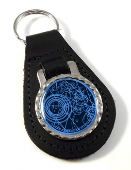 Time Lord Leather Key Fob