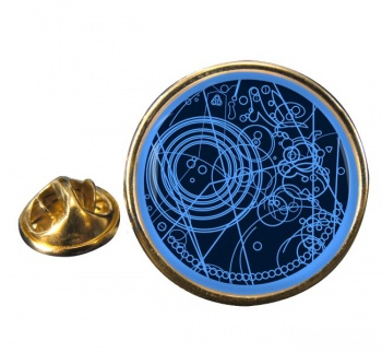 Time Lord Round Pin Badge