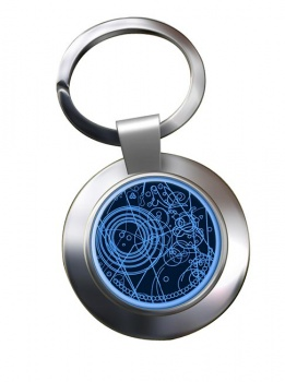 Time Lord Chrome Key Ring