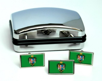 Toledo (Spain) Flag Cufflink and Tie Pin Set