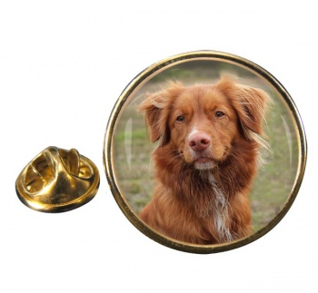 Nova Scotia Duck Tolling Retriever Round Pin Badge