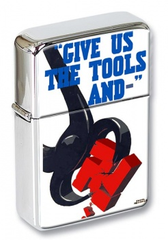 Give Us the Tools WW2 Poster Flip Top Lighter