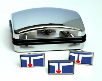 Toronto (Canada) Flag Cufflink and Tie Pin Set