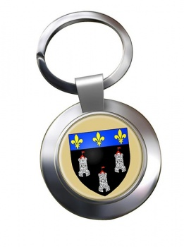 Tours (France) Metal Key Ring
