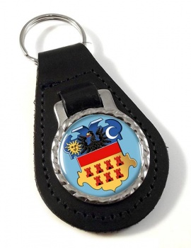 Transylvania (Romania) Leather Key Fob