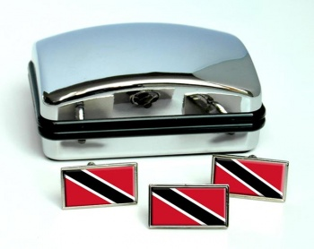 Trinidad and Tobago Flag Cufflink and Tie Pin Set