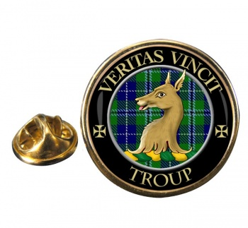Troup Scottish Clan Round Pin Badge