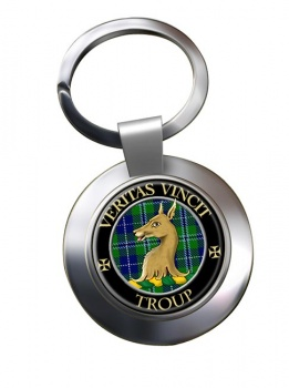 Troup Scottish Clan Chrome Key Ring