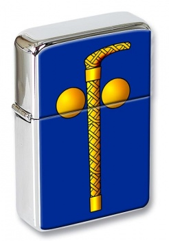 Tubal Cain (Two Ball and Cane) Masonic Flip Top Lighter