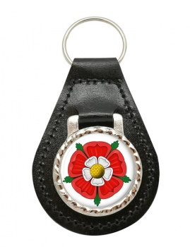Tudor Rose Leather Key Fob