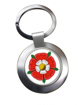 Tudor Rose Chrome Key Ring
