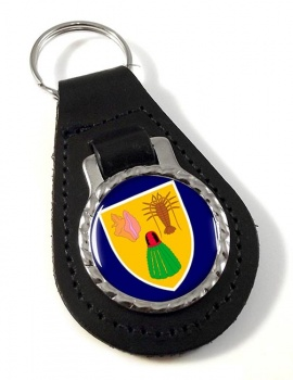 Turks and Caicos Islands Leather Key Fob