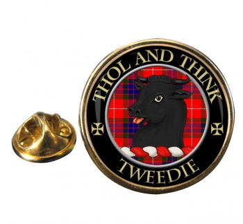 Tweedie Scottish Clan Round Pin Badge
