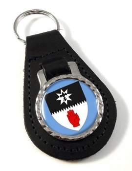 County Tyrone (UK) Leather Key Fob