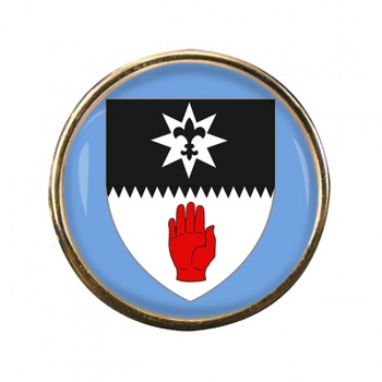 County Tyrone (UK) Round Pin Badge