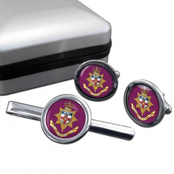 University of London OTC Round Cufflink and Tie Clip Set