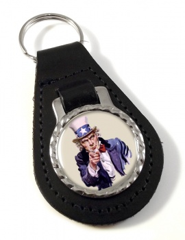 Uncle Sam Leather Key Fob